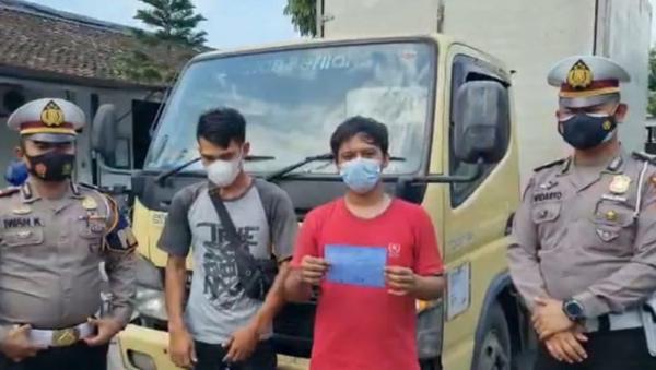 Viral Truk Boks Ugal-ugalan di Boyolali, Sopir dan Kenek Diamankan Polisi