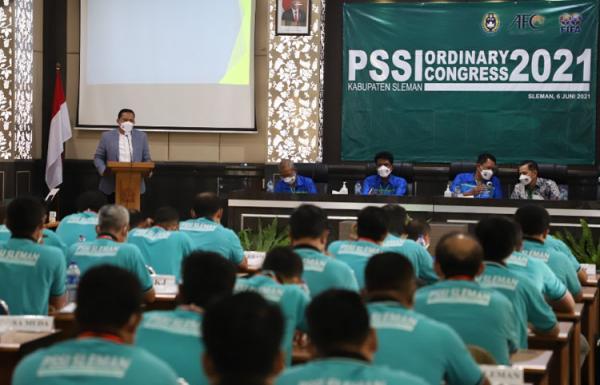 Dapat  Dukungan  Mayoritas,  Wahyudi Kurniawan  Kembali Jabat Ketua Askab PSSI Sleman