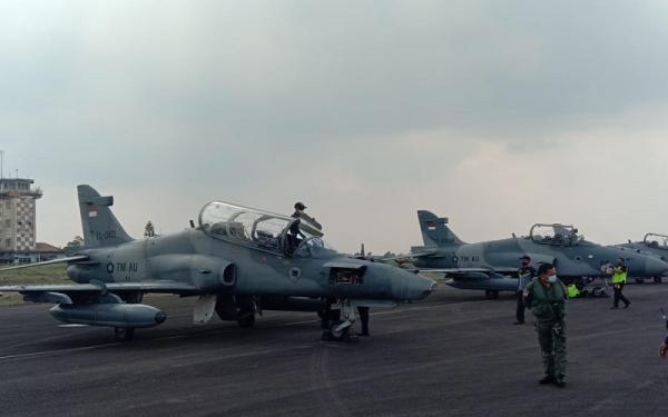 Mendarat di Palembang, 9 Pesawat Tempur  Akan Lakukan Pengeboman di Tanjung Pandan