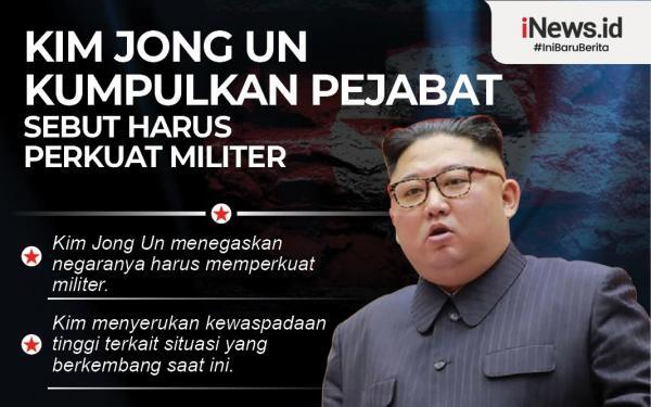Infografis Kim Jong Un Kumpulkan Pejabat Sebut Korut Harus Perkuat Militer