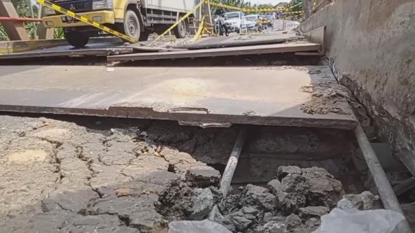 Duh, Kerusakan Jembatan di Abung Kunang Lampung Utara Makin Parah