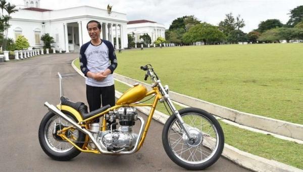 3 Pejabat Tinggi Negara Hobi Tunggangi Motor Gede, Presiden Jokowi Suka Model Chopper