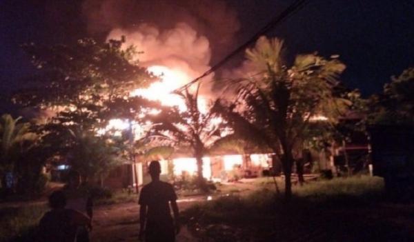 Asrama TNI di Pontianak Terbakar, Diduga Korsleting Listrik