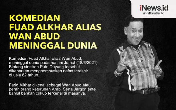 Infografis Wan Abud Meninggal Dunia