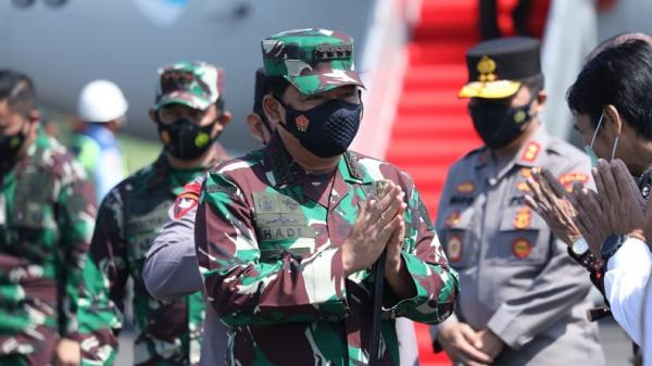 Panglima TNI Minta Kades, Kepala Puskesmas, Babinsa dan Bhabinkamtibmas di Madiun Optimalkan PPKM Mikro