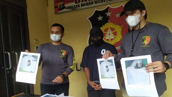 Polisi Tangkap Perampas Handphone Pejalan Kaki di Medan yang Viral