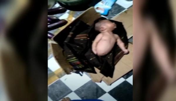Video Bayi dalam Kardus Ditemukan di Bawah Meja Warung Makan di Maros