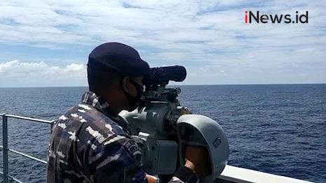 Video TNI AL Kerahkan 2 KRI untuk Pencarian Kapal Hilang di Perairan Kalbar