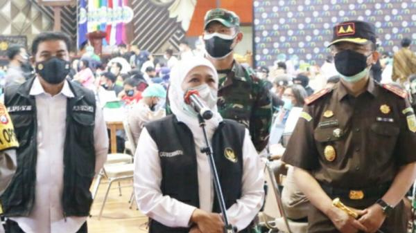 Jatim Provinsi Pertama Masuk PPKM Level 1, Khofifah: Alhamdulillah Terima Kasih