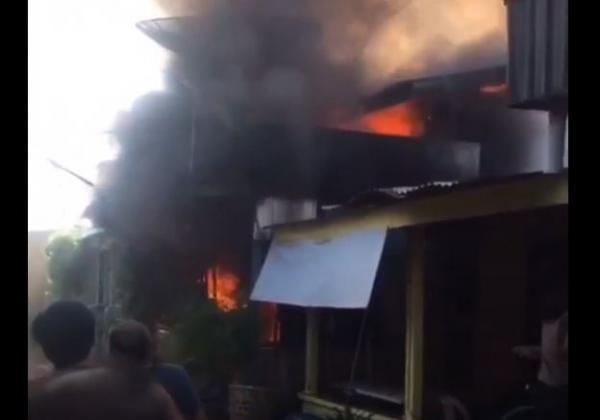 Kebakaran di Asahan, Rumah Sekaligus Tempat Ibadah Warga Tionghoa Ludes Dilalap Api