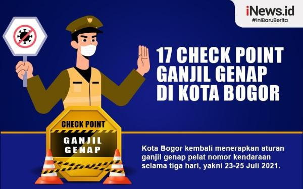 Infografis 17 Check Point Ganjil Genap di Kota Bogor
