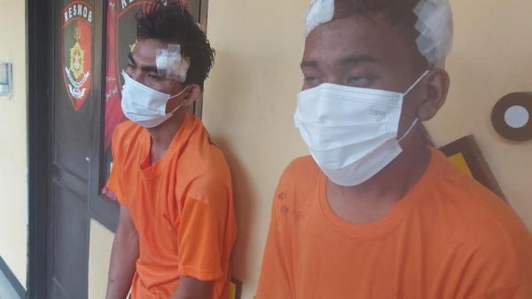Terkepung, Dua Maling Motor Bersenjata Api di Tangerang Babak Balur Dihajar Warga