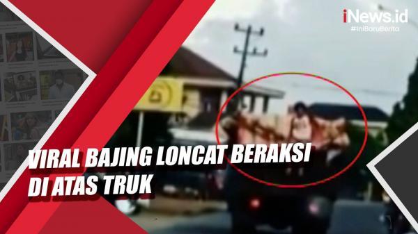 Video Viral Bajing Loncat Beraksi di Atas Truk, 2 Pelaku Ditangkap