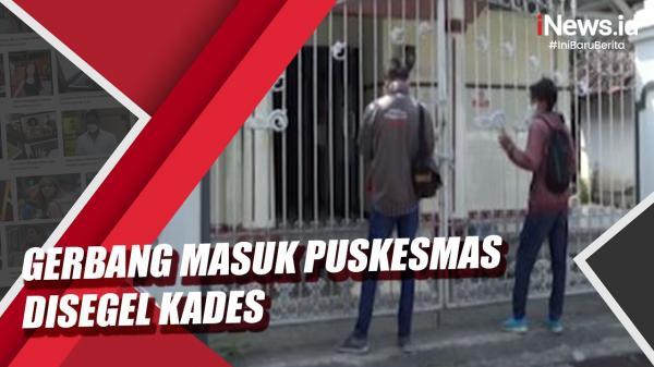 Video Gerbang Masuk Puskesmas Disegel Kades dengan Rantai Besi dan Gembok