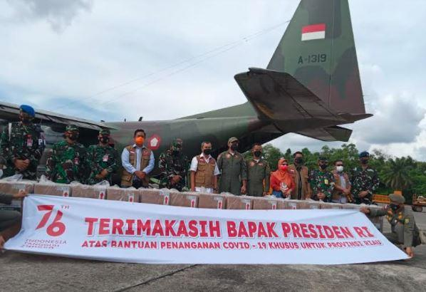 Dapat Bantuan Paket Obat Covid-19 dari Jokowi, Gubernur Riau: Terima Kasih Pak Presiden RI