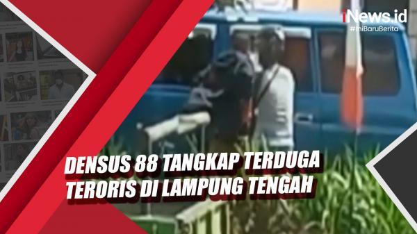 Video Densus 88 Tangkap Terduga Teroris di Lampung Tengah