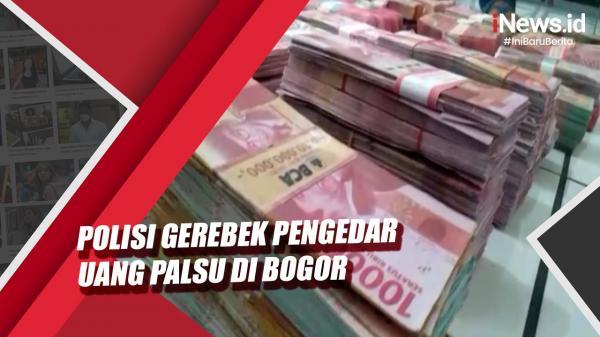 Video Polisi Gerebek Pengedar Uang Palsu di Bogor