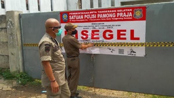 Petugas Usut Pencopotan Segel Proyek Tak Berizin di Tangsel, Diduga Preman Suruhan
