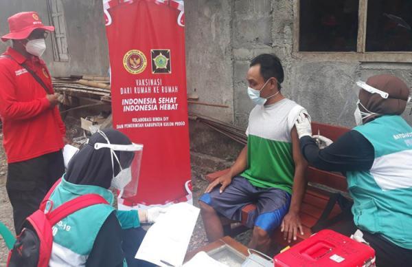 Sasar Warga Pinggiran, BIN Gelar Vaksinasi Covid-19 Door to Door di Kulonprogo