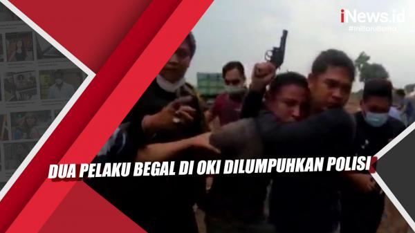 Video Dua Pelaku Begal di OKI Dilumpuhkan Polisi