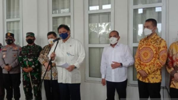 Menko Airlangga: Medan dan Madina Sudah PPKM Level 3
