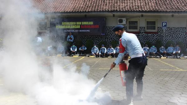 Pascalapas Tangerang Terbakar, Rutan Bandung Gelar Simulasi Pemadaman Kebakaran