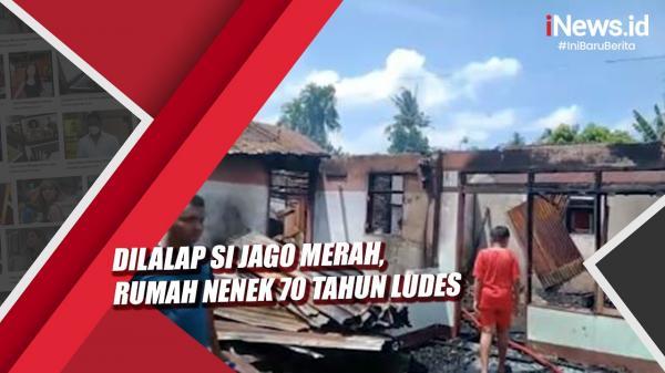 Video Rumah Nenek 70 Tahun di Labuhanbatu Ludes Terbakar