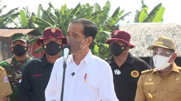 Presiden Jokowi Tinjau Vaksinasi Door to Door di Deliserdang