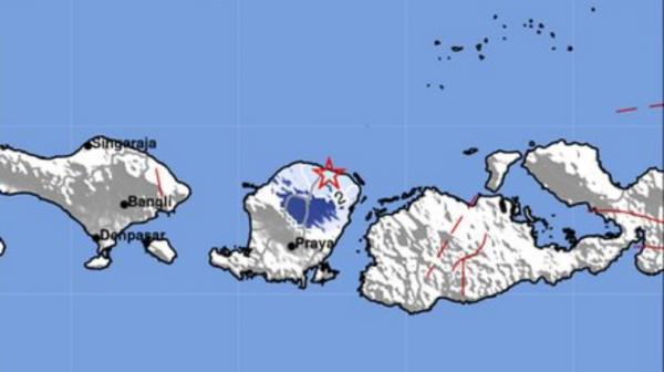 Gempa Terkini Magnitudo 3,8 Guncang Lombok Timur