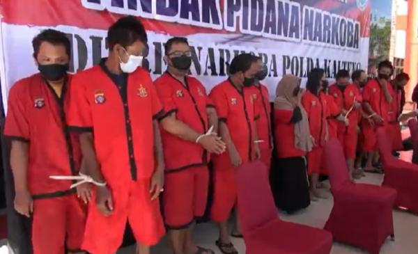 Polisi Tangkap Pengedar Narkoba Jaringan Banjarmasin-Pontianak, Sita 1,3 Kg Sabu