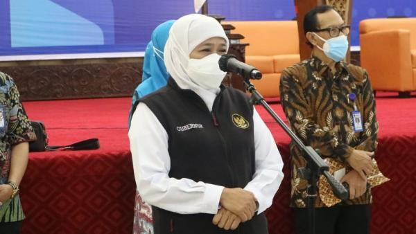 Gubernur Khofifah Pastikan Kawal Ketat Pembelajaran Tatap Muka di Jatim