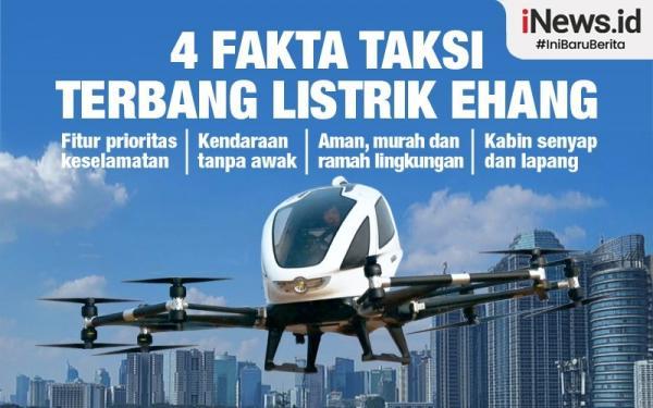 Infografis 4 Fakta Menarik Mobil Terbang China Ehang, Dikemudikan Tanpa Pilot
