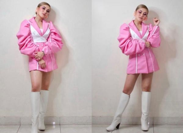 Ayu Ting Ting Tampil Serba Pink, Dikira Netizen Lisa BLACKPINK