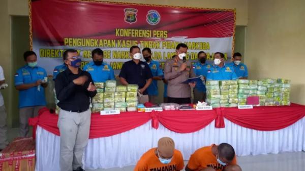 9 Bulan Bongkar Kasus Narkoba, Polda Lampung Sita Ratusan Kilogram Sabu dan Ganja