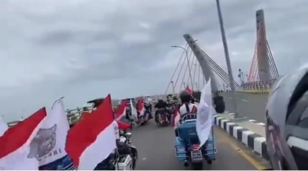 Viral Rombongan Moge Seberangi Jembatan yang Belum Diresmikan, Warganet: Kasih Sanksi Gitu