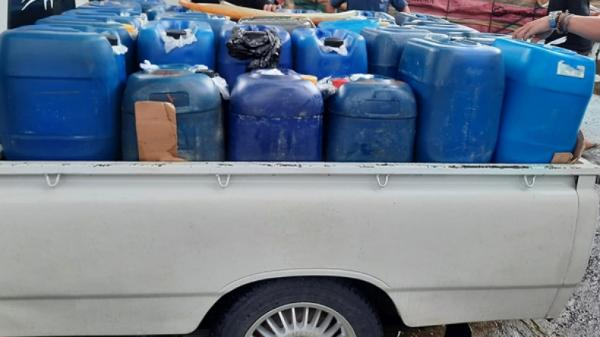Angkut Ribuan Liter BBM Tanpa Izin, 2 Pria Diamankan Satgassus Maleo Polda Sulut