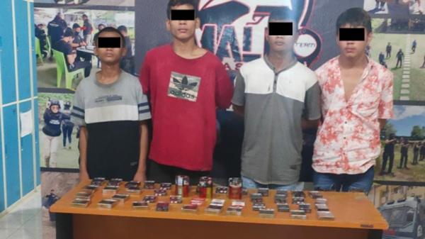4 Pelaku Pencurian di Kios Pasar Bersehati Manado Dibekuk Polisi