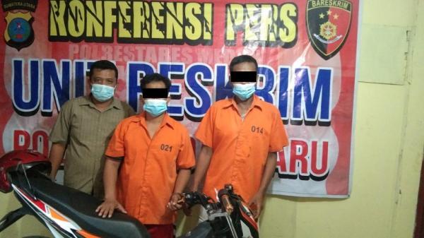 2 Perampas Sepeda Motor dengan Modus Debt Collector di Medan Ditangkap