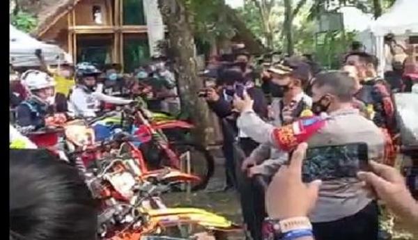 Tak Ada Izin, Event Motocross di Purwakarta Dibubarkan Polisi