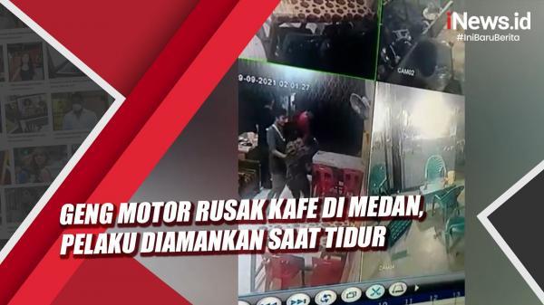 Video Geng Motor Rusak Kafe di Medan, Pelaku Diamankan saat Tidur