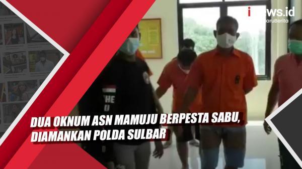 Video Dua Oknum ASN Mamuju Berpesta Sabu, Diamankan Polda Sulbar