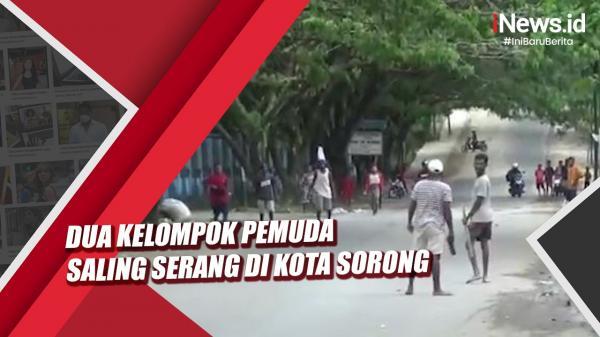 Video Dua Kelompok Pemuda Saling Serang di Kota Sorong