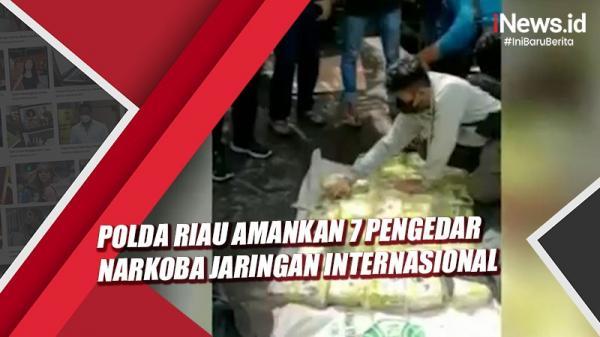 Video Polda Riau Amankan 7 Pengedar Narkoba dengan Barang Bukti 87 Kg Sabu