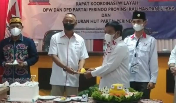 Syukuran HUT ke-7, Partai Perindo Kaltara Gelar Rakor Hadapi Pemilu 2024