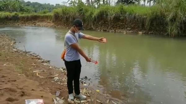 Petaka Susur Sungai Cileueur, Polres Ciamis Gelar Olah TKP