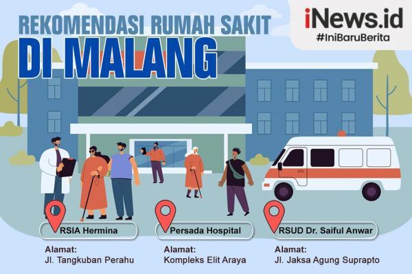 Infografis Rekomendasi 5 Rumah Sakit Terdekat di Malang