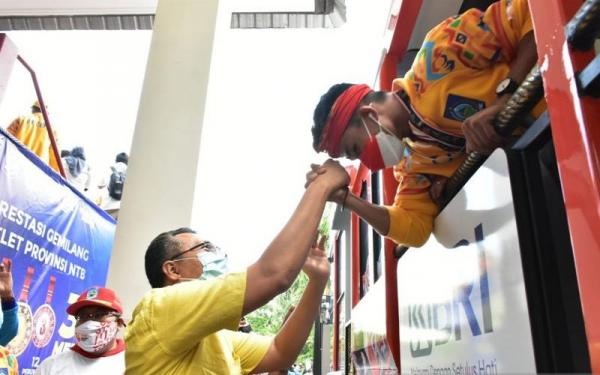Diarak Keliling Kota, Atlet PON NTB Akan Terima Bonus di Hari Sumpah Pemuda