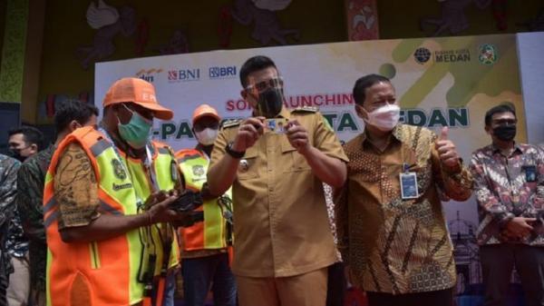 Bobby Nasution Resmikan 22 Titik Parkir Nontunai di Kota Medan