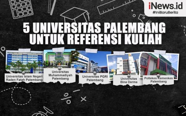 Infografis 5 Universitas di Palembang yang Bisa Jadi Referensi Kuliah