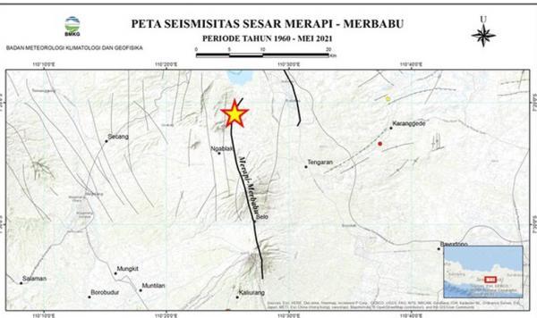 Rentetan Gempa di Jateng Berdekatan dengan Jalur Sesar Merapi Merbabu, Rawa Pening dan Ungaran